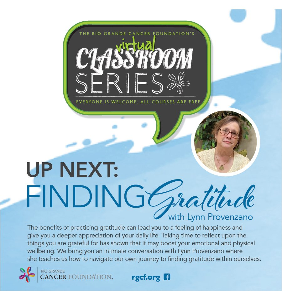 Virtual Classroom Series - Finding Gratitude with Lynn Provenzano